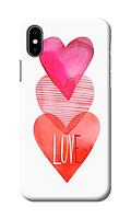 Чехол для телефона c любовью Iphone Х силиконовый пластиковый