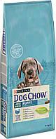 Сухой корм Purina Dog Chow Puppy для щенков больших пород, со вкусом индейки 14 кг