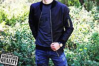 Мужской бомбер из Плащевки   Водоотталкивающий   Чоловічий Бомбер з Плащівки (Черный)
