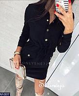 Женское замшевое платье-рубашка