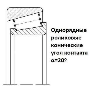 027ХХХ Подшипники однорядные роликовые конические с углом контакта α=20º