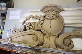 Лепной декор из гипса, барельеф, лепка из гипса на стене Одесса - Киев