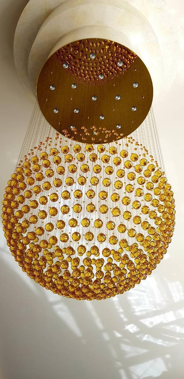 Оптоволоконная люстра «Золотая планета»