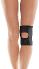 Бандаж коленного сустава  с открытой чашечкой  тип 513 черных