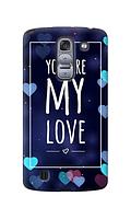 Чехол для телефона you are my love LG K7 силиконовый пластиковый
