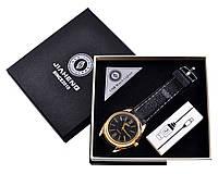 USB зажигалка + часы в подарочной упаковке (Спираль накаливания; кварц)