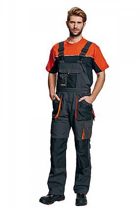 Полукомбинезон рабочий Emerton мужской демисезонный Серый с черным, фото 2