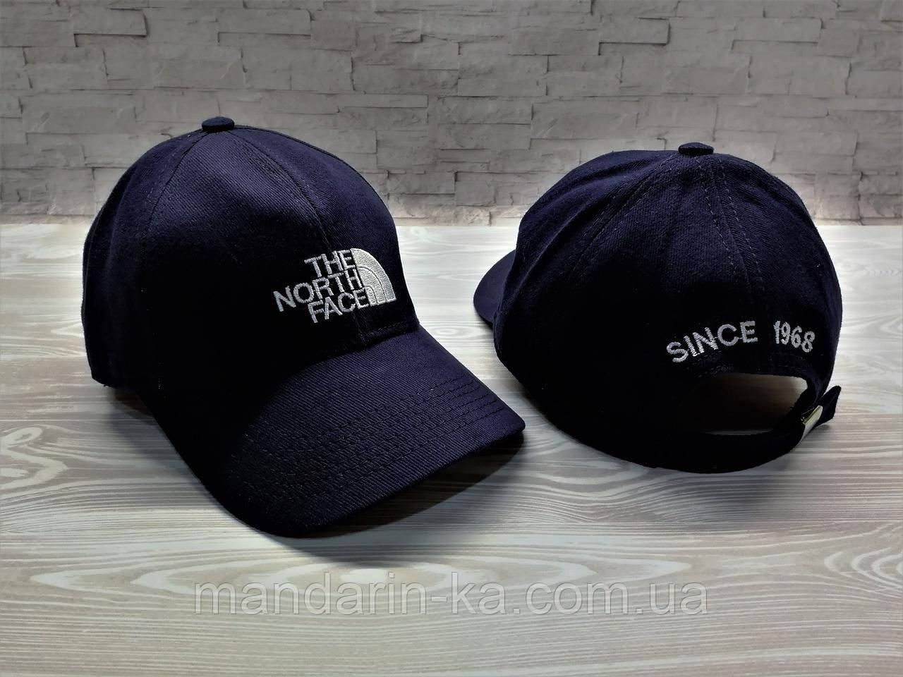 Кепка бейсболка блайзер темно-синяя North Face Норд Фейс (реплика)
