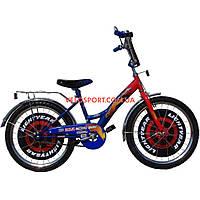 Детский велосипед Mustang Тачки 20 дюймов сине-красный