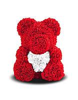 Мишка из роз в подарочной упаковке - необычный подарок для девушки