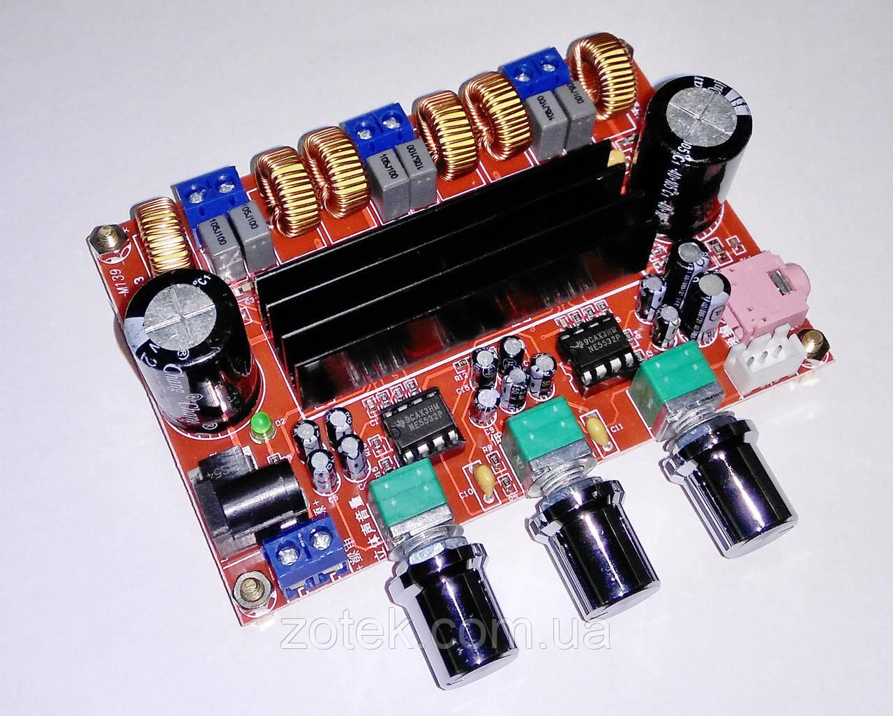 УЦЕНКА. Аудио усилитель мощности XH-M139 - TPA3116D2 50Вт*2+100Вт 2.1 DC 12-24В