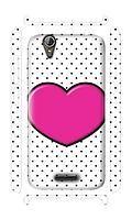 Чехол для телефона розовое сердце Acer Z630s силиконовый пластиковый