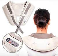 Ударный вибро-массажер для спины, плеч и шеи Cervical Massage Shawls