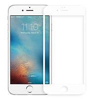 Защитное стекло для iPhone 6 Plus 5D white
