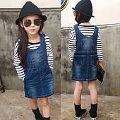 Сарафаны и юбки для девочек джинсовые