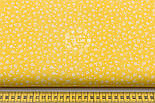 """Лоскут ткани """"Микро цветочки"""" белые на жёлтом  №1656а, фото 3"""