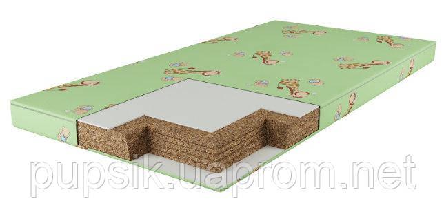 Матрас для детской кроватки Юниор (5-ти сл. кокос) салатовый 7см