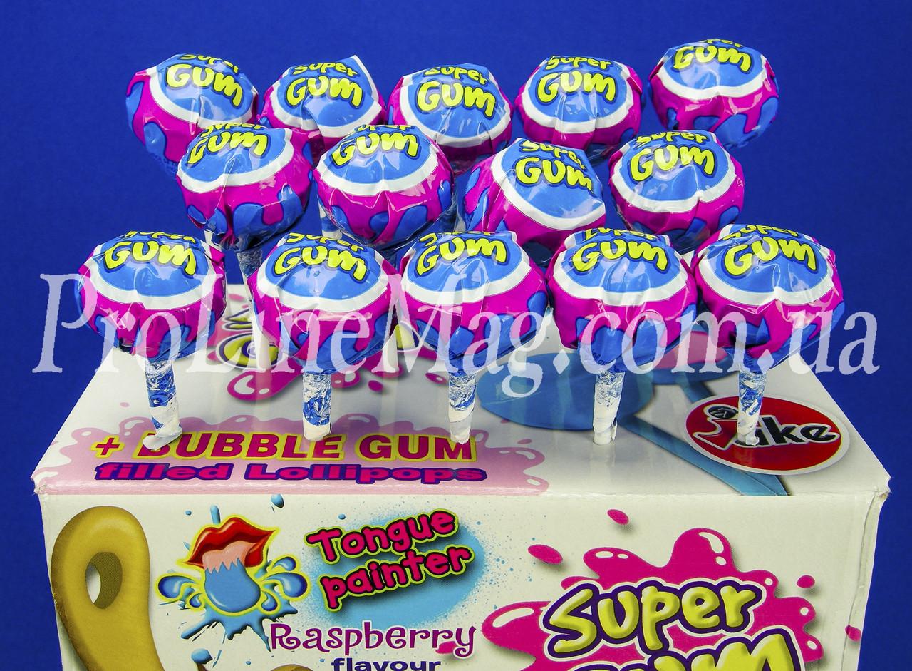 Леденец - жевательная резинка Jake® Raspberry Super Gum