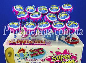 Леденец - жевательная резинка Jake Raspberry Super Gum