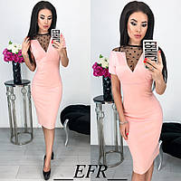 Женское платье стильное (мод. 366) цвета: чёрный, хаки, марсала, розовый, красный, фото 1