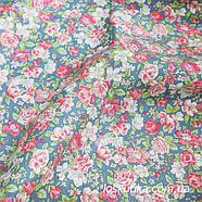 48002 Розовый аромат. Ткань с набивным рисунком. Ткани с цветочками для кукол, рукоделия, декора и шитья., фото 2