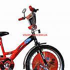 Дитячий велосипед Mustang Тачки 20 дюймів синьо-червоний, фото 2