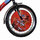 Дитячий велосипед Mustang Тачки 20 дюймів синьо-червоний, фото 3