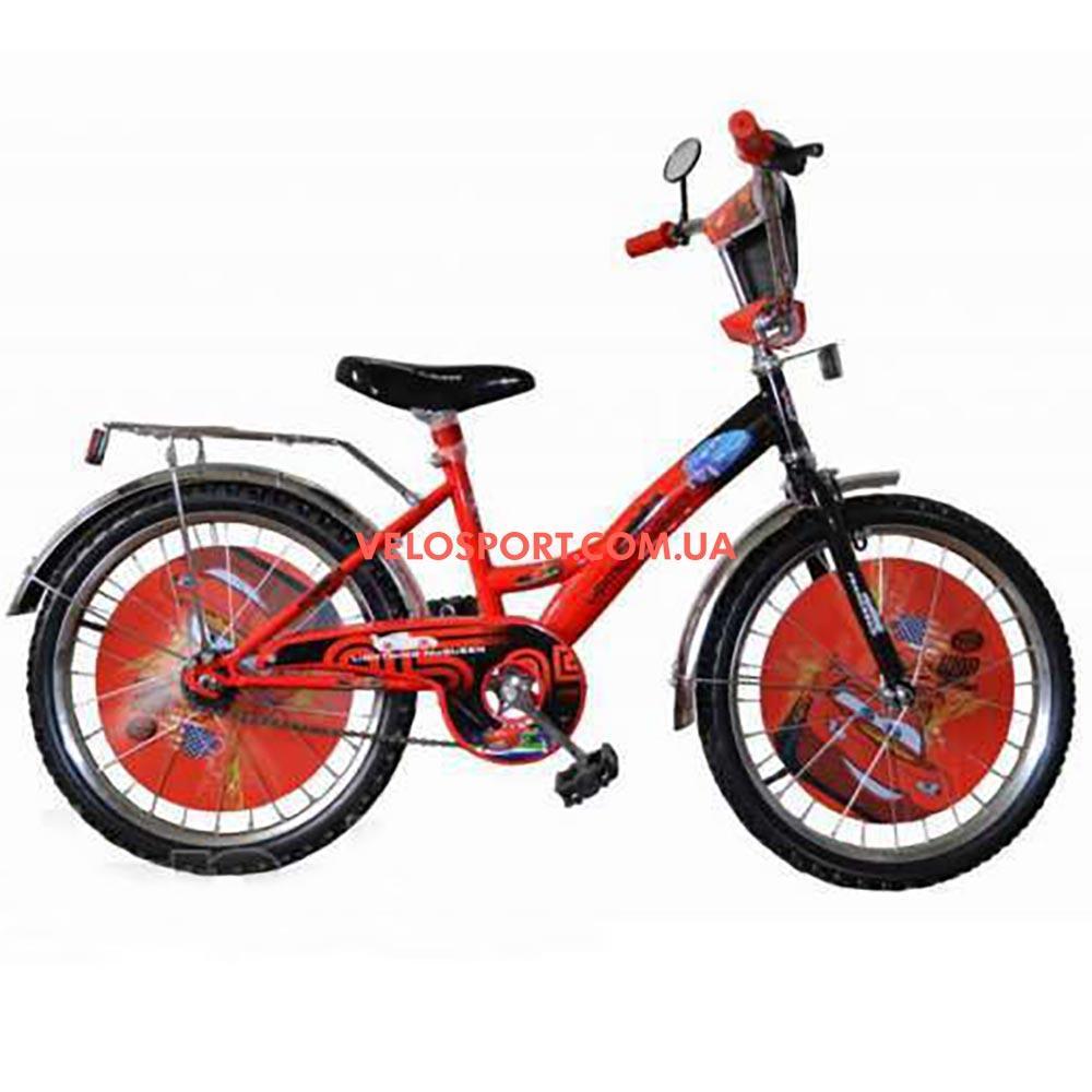 Дитячий велосипед Mustang Тачки 20 дюймів синьо-червоний