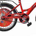 Дитячий велосипед Mustang Тачки 20 дюймів синьо-червоний, фото 5