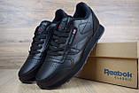 Мужские кроссовки в стиле Reebok Classic, черные, фото 4