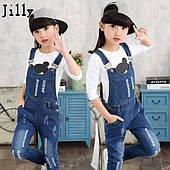 Комбинезоны джинсовые для девочек