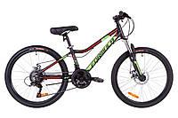 """Велосипед Formula Acid 1.0 DD 24"""" черно-зеленый"""