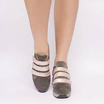 Кроссовки замшевые на липучках 841-02, фото 3