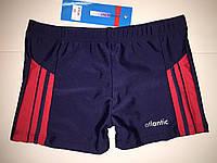 Плавки-шорты подросток Atlantic синий с красным