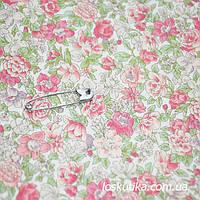 49006 Легкий аромат. Ткань с набивным рисунком. Ткани с цветочками для кукол, рукоделия, декора и шитья.