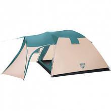 Палатка туристична 5 місцева Bestway 68015, розмір (200+305)*305*200 см, антимоскітна сітка, сумка