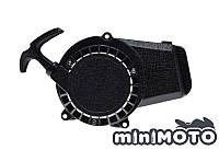 Крышка заводная, ручной стартер (тип #1) для мини мото, мини квадроцикла (шморгалка) Алюминий, фото 1