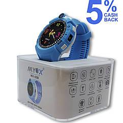 Детские GPS часы MYOX МХ-02B синие (камера + фонарик)