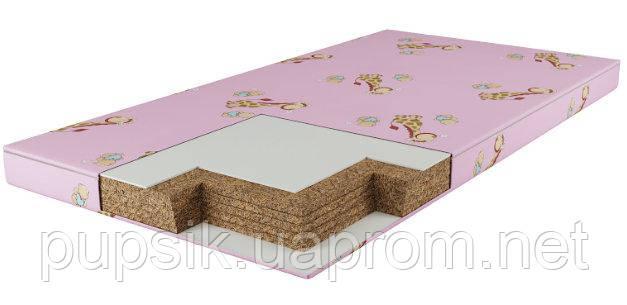 Матрас в детскую кроватку Юниор (5-ти сл. кокос) розовый 7см