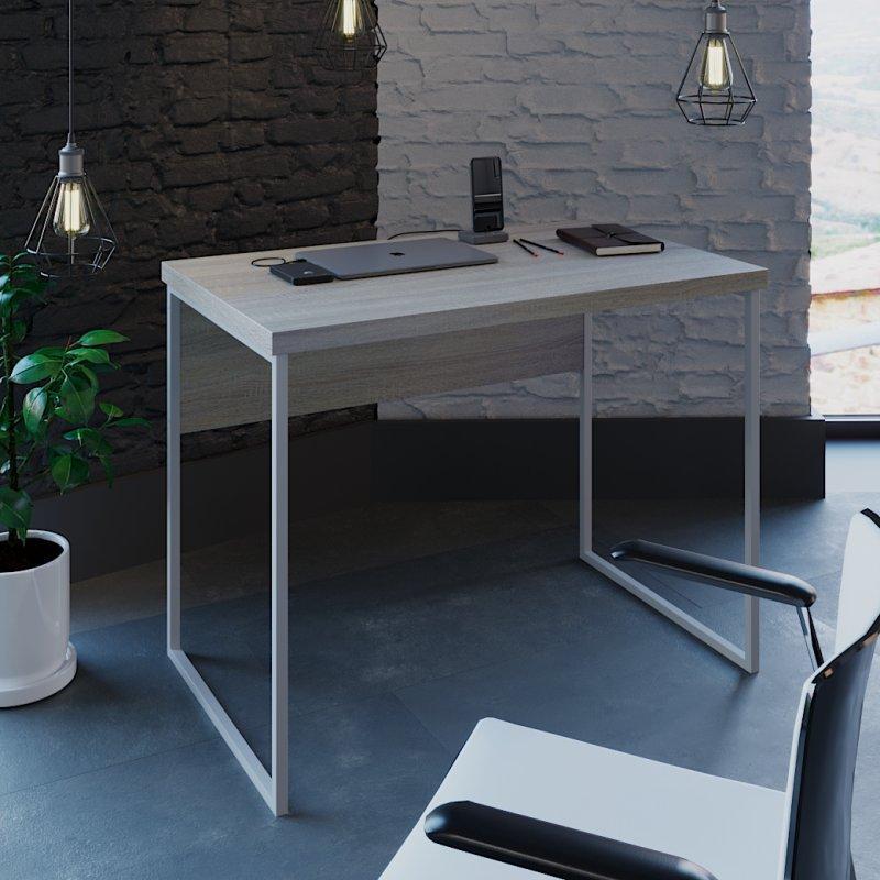 Письменный стол лофт (Вега 2 белый)