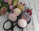 Резинки для волос с помпонами и пластиковыми ушками 12 шт/уп., фото 2