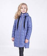 Детское пальто демисезонное для девочки (на спинке зайчик) от ANERNUO 1906 , размеры 116-140
