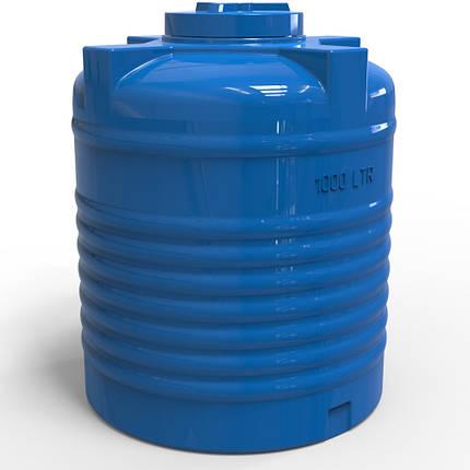 Пластиковая емкость для воды вертикальная 1000 л, фото 2