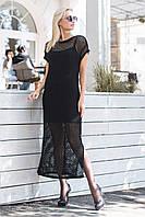 Платье-сетка повседневное р. 44-48 черный