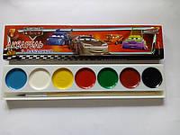 Краски акварельные медовые Olli 7 цветов Машинки