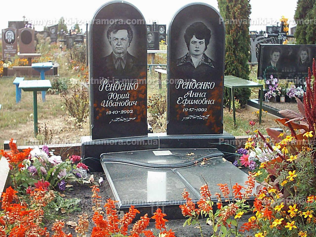 Памятник  для двоих из гранита  № 51