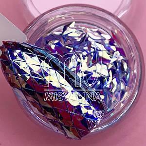 Чешуя Дракона №3, фиолетовые ромбики