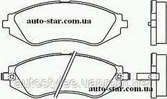 """Колодки тормозные дисковые передние для автомобиля Lanos(Ланос) 14"""" BREMBO P15002"""