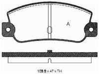 Тормозные  колодки передние FIAT TEMPRA (159)(-1996г),LANCIA DELTA,002530