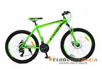 Горный велосипед Benetti Apex DD 26'' Neco черно-зеленый (ХАРДТЕЙЛ)